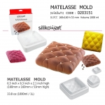 Molde de silicona Matelasse Silikomart