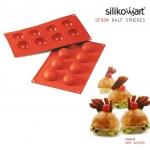 Silikomart พิมพ์ซิลิโคน SF004 HALF-SPHERE (8ช่อง / 5cm)