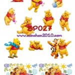 BP027 กระดาษแนพกิ้น 21x30ซม. ลายหมีพูห์
