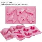 FR087 Equitation 6 shapes Pink Carton Box
