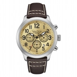 Nautica Men's NAD14518G NCC 01 CHRONO Analog Display Quartz Beige Watch