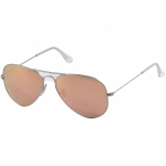 Ray Ban Aviator RB3025 112/69 Matte Gold w/ Orange Mirror Lens