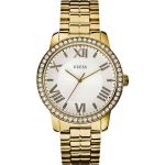 Guess W0329L2 Gold Plated Stainless Steel Case Gold Plated Stainless Steel Mineral Women's Watch