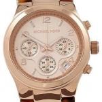 Michael Kors Runway Rose Gold-tone Tortoise Twist Chain Link Ladies Watch MK4269