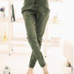 กางเกงผ้า cotton เนื้อนุ่มใส่สบาย ขาเดฟ เอวยืดได้ สวยเท่มากๆค่ะ