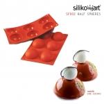 Silikomart พิมพ์ซิลิโคน SF002 HALF-SPHERE(6ช่อง / 7cm)