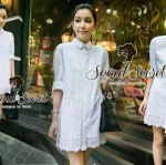 Must Have Item!!! Flapping Lace Mini Dress Shirt by Seoul Secret