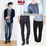 MUJI Stretch Slim & Tapered Denim ( New Feature 6 Pocket )