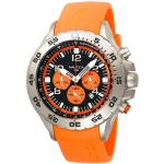 Nautica Men's N14538G NST Stainless Steel Watch with Orange Resin Band