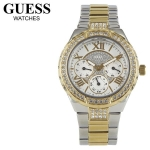"GUESS Women's W0111L5 ""Sparkling Hi-Energy"" Silver- And Gold-Tone Watch"