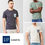 Gap Lived In Print Pocket T-Shirt ( new update 20-01-17)