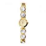 Guess Ladies Stone Gold tone Watch W10259L1