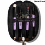 CerroQreen double eye makeup brush แปรงแต่งหน้า sets /4 ชิ้น - Black /Purple