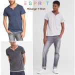 ESPRIT MELANGE SHORT SLEEVE T-SHIRT