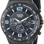 Pulsar Men's PT3405 Analog Display Japanese Quartz Black Watch