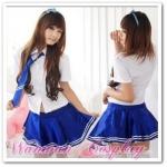 ชุดนักเรียนญี่ปุ่น สีน้ำเงิน น่ารักๆ ให้เช่าราคาถูกสุดๆ250-390บาท/ชุด 094-920-9400,094-920-9402