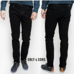 ONLY & SONS WEFT BLACK REGULAR FIT JEANS