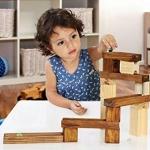 รางไม้ลูกแก้ว 45 ชิ้นของเล่นเสริมพัฒนาการ ของเล่นเสริมจินตนาการ ของเล่นปลายเปิด Wooden marble run