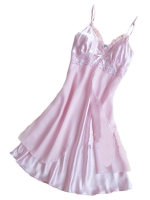Velishy Women Chiffon Sleepwear Robes (Pink) - Intl