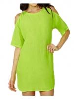Cyber Sleeveless Women Package Hip Mini Ladies Dresses (Multicolor)