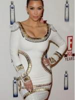 Splicing Color Chiffon Short Sleeve Mini Dresses For Women Trendy Fashion Style Online (White/Black)