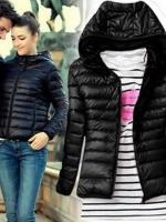 LALANG Warm Women Winter Long Sleeve Hooded Jacket Coat ParkaOvercoat Black