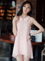 DRESS แฟชั่นชุดเดรสคุณภาพผ้าลูกไม้ แบรนด์ R.J STRORY โทนชมพูสดใส ใส่ออกงาน ใส่เที่ยวน่ารัก Asia Street Fashion