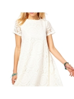 Moonar Women Hollow Out Lace Floral A-Line Mini Womens Dresses Online (White)