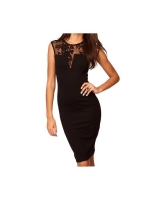 Sexy Women Floral Slim Fit Mini Womens Dresses Online Black