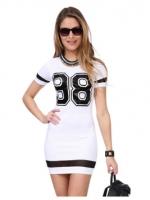 V-neck Long Sleeve Lace Mini Women is Dresses Online Black
