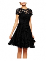 Women Lace Sleeveless Party Princess Wedding Formal Cocktail MiniDresses For Women