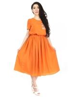 Bigsale Fashion เดรส Candy colour maxi