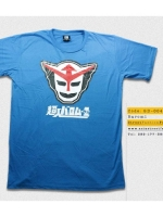 T-Shirt เสื้อยืดกันดั้ม บารอม Barom 1 เจ้าหนูซุปเปอร์แมน (Zaku II) สุดเท่ห์ สีฟ้า จากร้าน GUNZU !!โปรโมชั่น Asia Street Fashion
