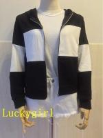 Luckygirl เสื้อแจ็คเก็ตมีฮู้ดL1148(สีดำ)