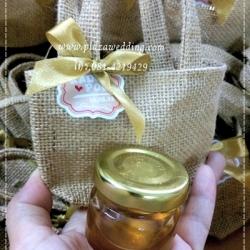 น้ำผึ้ง 1 ออนซ์ แพคถุงกระสอบ+โบว์+แทค