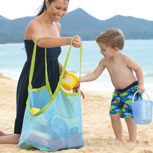 Sand away Beach Bag 45 cm Blue สีฟ้าขอบเขียว