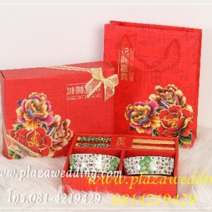 ชุดทานข้าวญี่ปุ่น กล่องสีแดง