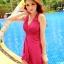 ชุดว่ายน้ำวันพีช สี ROSE คอวี แต่งสายคล้องคอ แต่งย่นๆช่วงอกน่ารักมากๆ ผ่าด้านหน้าเซ็กซี่ thumbnail 1