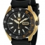 Seiko SRP364K1 5 Sports Black Dial Gold Plated Automatic Watch thumbnail 1