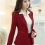เสื้อสูทแฟชั่น พร้อมส่ง สีแดง คอปก แขนยาว เข้ารูป งานสวยดีไซน์เก๋มากๆ thumbnail 2
