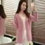 เสื้อคลุมแฟชั่น พร้อมส่ง สีชมพู ผ้าไหมพรม เนื้อนิ่ม ถักลายฉลุน่ารัก thumbnail 3