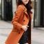 เสื้อโค้ทแฟชั่น พร้อมส่ง สีส้ม ตัวยาว คอปก สุดเท่ห์ กระดุมหน้า 2 แถว แต่งขลิบสีขาวช่วงหัวไหล่ ปลายแขน กระเป๋าเก๋ๆ มาพร้อมเข็มขัดเข้ากับตัวชุด ใส่ไปต่าง ประเทศได้มีกระเป๋าสองข้าง thumbnail 2