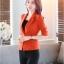 เสื้อสูทแฟชั่น เสื้อสูทสำหรับผู้หญิง พร้อมส่ง สีส้มสดใส ผ้าโพลีเอสเตอร์ คอตตอน 100 % เนื้อดี คุณภาพงานพรีเมี่ยม งานตัดเย็บเนี๊ยบ เย็บเก็บตะเข็บเรียบร้อยค่ะ ไม่มีซับในระบายอากาศได้ค่ะ thumbnail 3