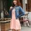 เสื้อยีนส์ พร้อมส่ง สียีนส์เข้ม สีสวย คอจีน ดีเทลสุดเท่ห์ แฟชั่นมาใหม่สไตล์เกาหลี thumbnail 3