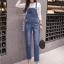 เอี๊ยมกางเกงขายาว พร้อมส่ง สียีนส์เข้ม ฟอกสีสวย เอี๊ยมกางเกงขายาว แบบใหม่สไตล์เกาหลี thumbnail 5