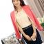 เสื้อสูทแฟชั่น พร้อมส่ง คอจีน สีชมพู แขนยาว ด้านหน้าแต่งผ้าสีขาวไว้ด้านใน ใส่ทำงานได้ thumbnail 4