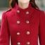 เสื้อโค้ทแฟชั่น พร้อมส่ง ตัวยาว สีแดง แต่งกระดุม 2 แถว ดีเทลคอเสื้อเก๋ๆ ใส่ไปต่างประเทศได้ thumbnail 6