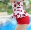 ชุดว่ายน้ำวันพีช พื้นขาว ลายหัวใจสีแดง น่ารัก สายเดี่ยว แต่งเว้าโชว์ด้านหลัง ดีเทลระบายเป็นชั้นๆค่ะ thumbnail 6