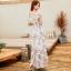MAXI DRESS ชุดเดรสยาว พร้อมส่ง สีขาว ลายดอกกุหลาบหวาน น่ารักมากๆค่ะ thumbnail 4