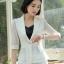 เสื้อสูทแฟชั่น เสื้อสูทสำหรับผู้หญิง พร้อมส่ง สีขาว ผ้าคอตตอน 100 % เนื้อดี คุณภาพงานพรีเมี่ยม thumbnail 4